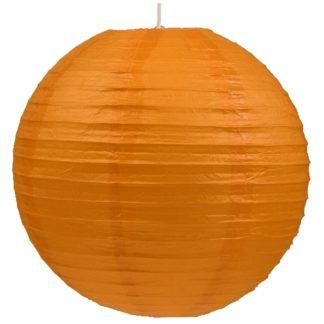 Abażur KULA PAPIEROWA 60 stal papier pomarańczowy 31-88232