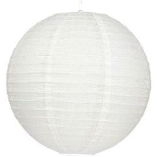 Abażur papierowy-kokon 40 stal papier biały 31-88164