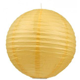 Abażur papierowy-kokon 50 stal papier zółty 31-88218