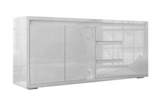 Bogart Design Komoda biała lakierowana wysoki połysk 3D3S Elvie 04