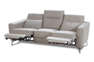 Bogart Design Sofa trzyosobowa z elektryczną funkcją relaks Maybe Skóra - Darmowa Dostawa