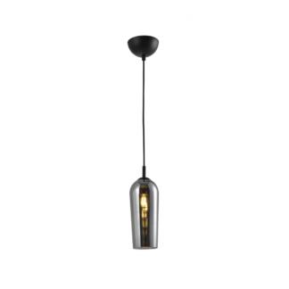 Lampa wisząca Blanca styl industrialny metal szkło przydymione srebrny AZ3335