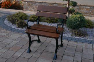 Meble-Bogart Krzesło Królewskie z podłokietnikami Orzech włoski - Darmowa Dostawa