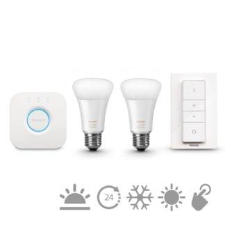 Zestaw oświetlenia inteligentnego LED HUE 2 x E27 Philips 102560722